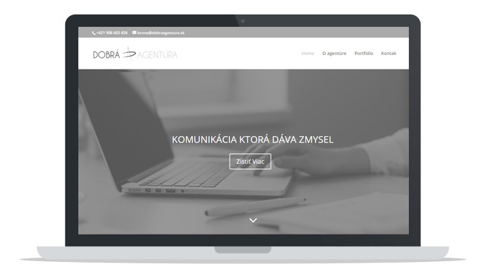 web stránka agentúra